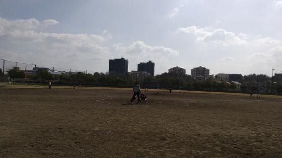 実践練習!駒ヶ谷野球場